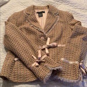 Pink tweed jacket. Size 12. Laundry